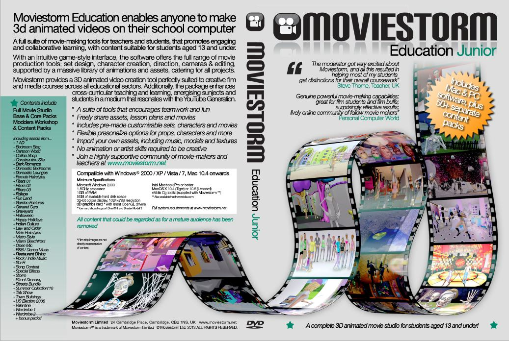 Click to see full size pdf of Moviestorm Education Junior DVD cover