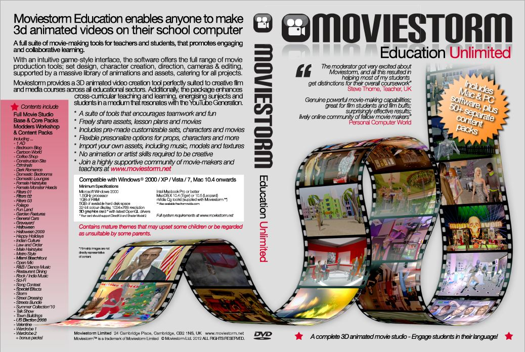 Click to see full size pdf of Moviestorm Education Unlimited DVD cover