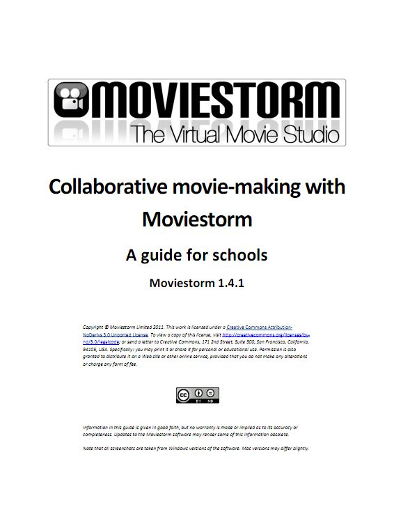 moviestorm for teaching and learning free lesson plans
