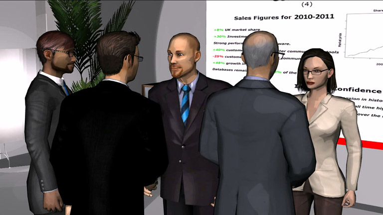 Image of corporate presentation made with Moviestorm